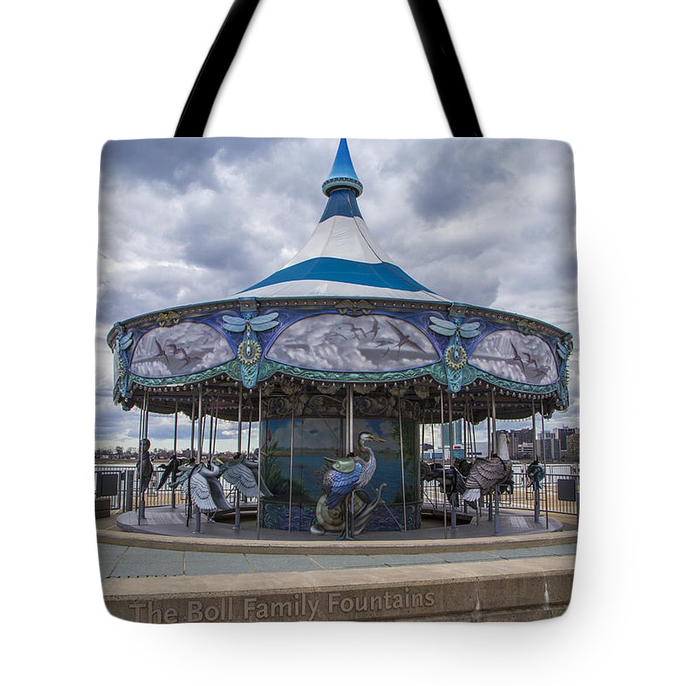 Detroit Tote Bag featuring the photograph Detroit Carousel by John McGraw