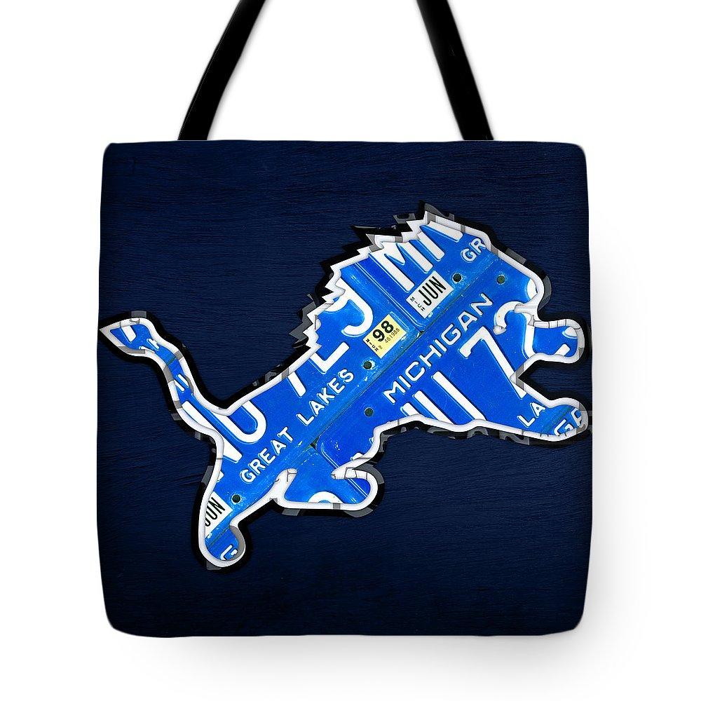 Detroit Lions Tote Bags