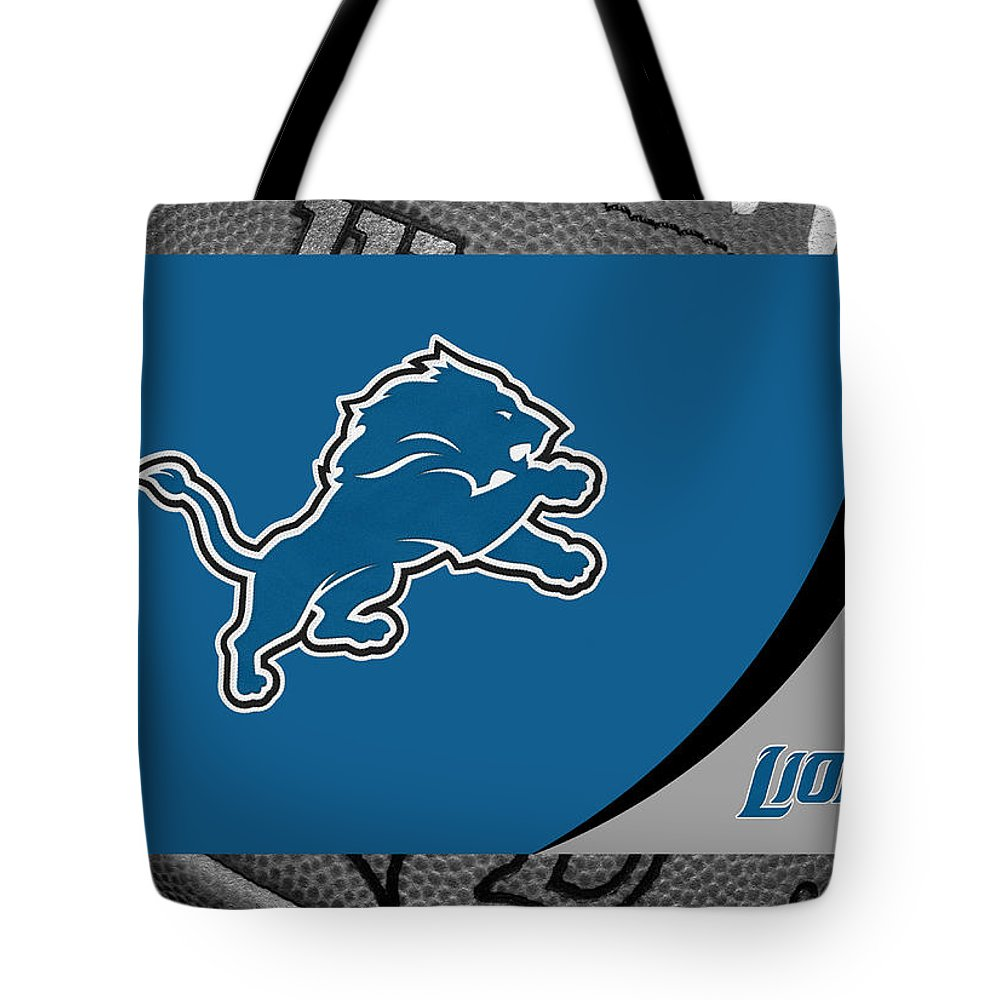 Lions Tote Bag featuring the photograph Detroit Lions by Joe Hamilton
