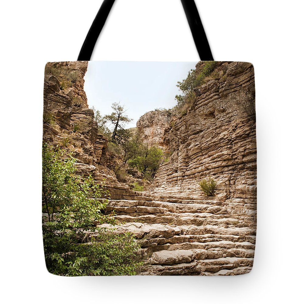 Ancient Tote Bag featuring the photograph Devil's Hall by Melany Sarafis