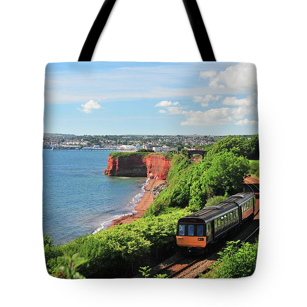Passenger Train Tote Bag featuring the photograph Devon Train by Maxian