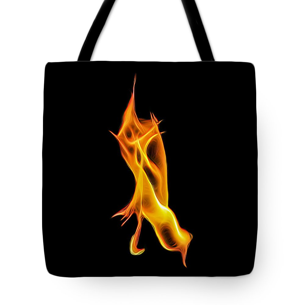 Fire Tote Bag featuring the photograph Devour by Wes Jimerson
