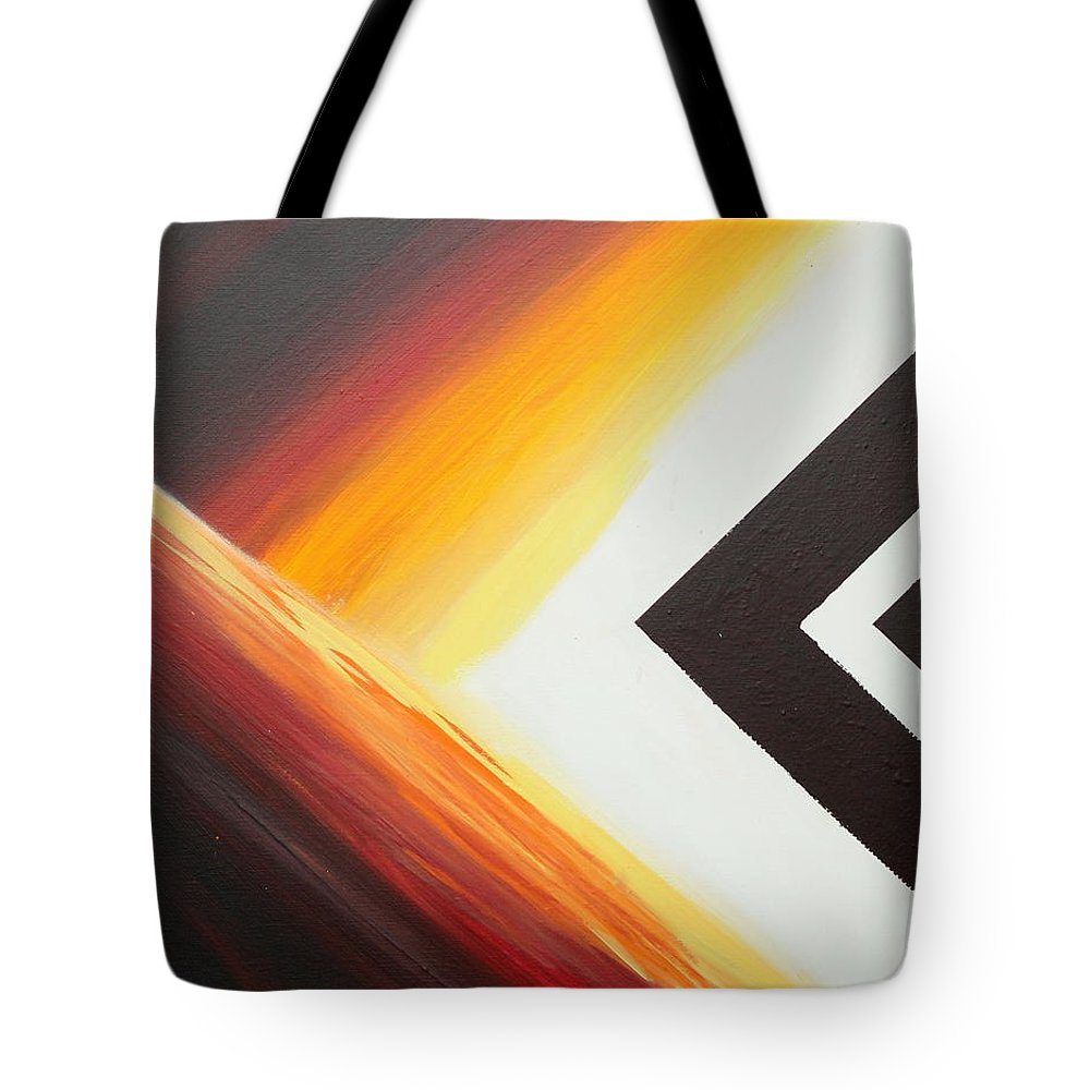 Abstract Tote Bag featuring the painting Diamond Fire 1 by Debbie Levene