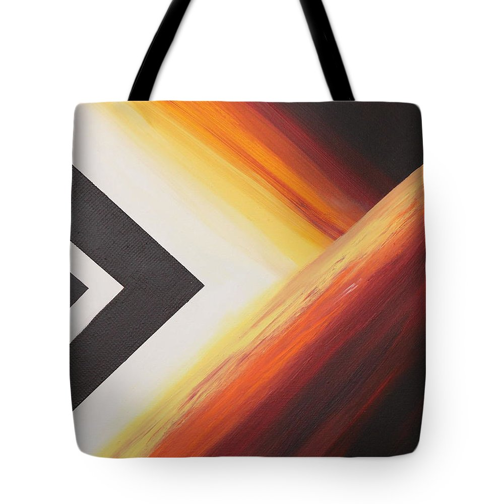 Abstract Tote Bag featuring the painting Diamond Fire 3 by Debbie Levene