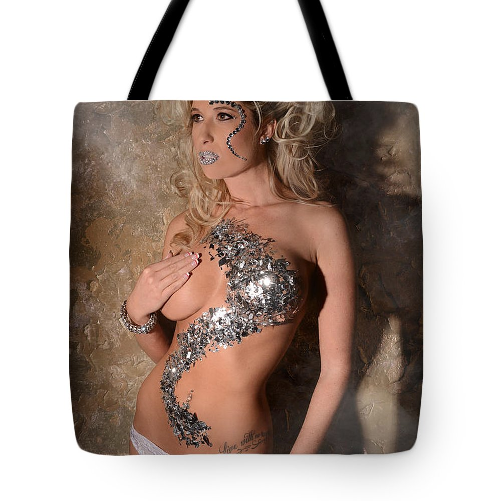 Closeup Tote Bag featuring the photograph Diamond Girl by Jt PhotoDesign