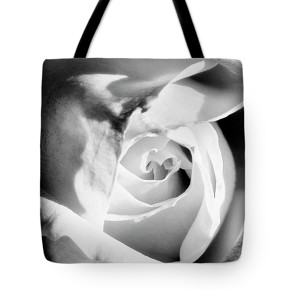 Rose Tote Bag featuring the photograph Diamond Rose Bw Palm Springs by William Dey