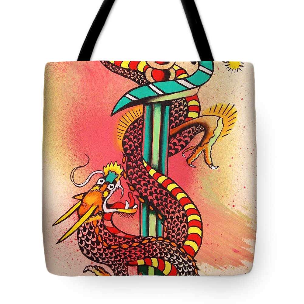 Dietzel Tote Bag featuring the painting Dietzel Dagger by Britt Kuechenmeister