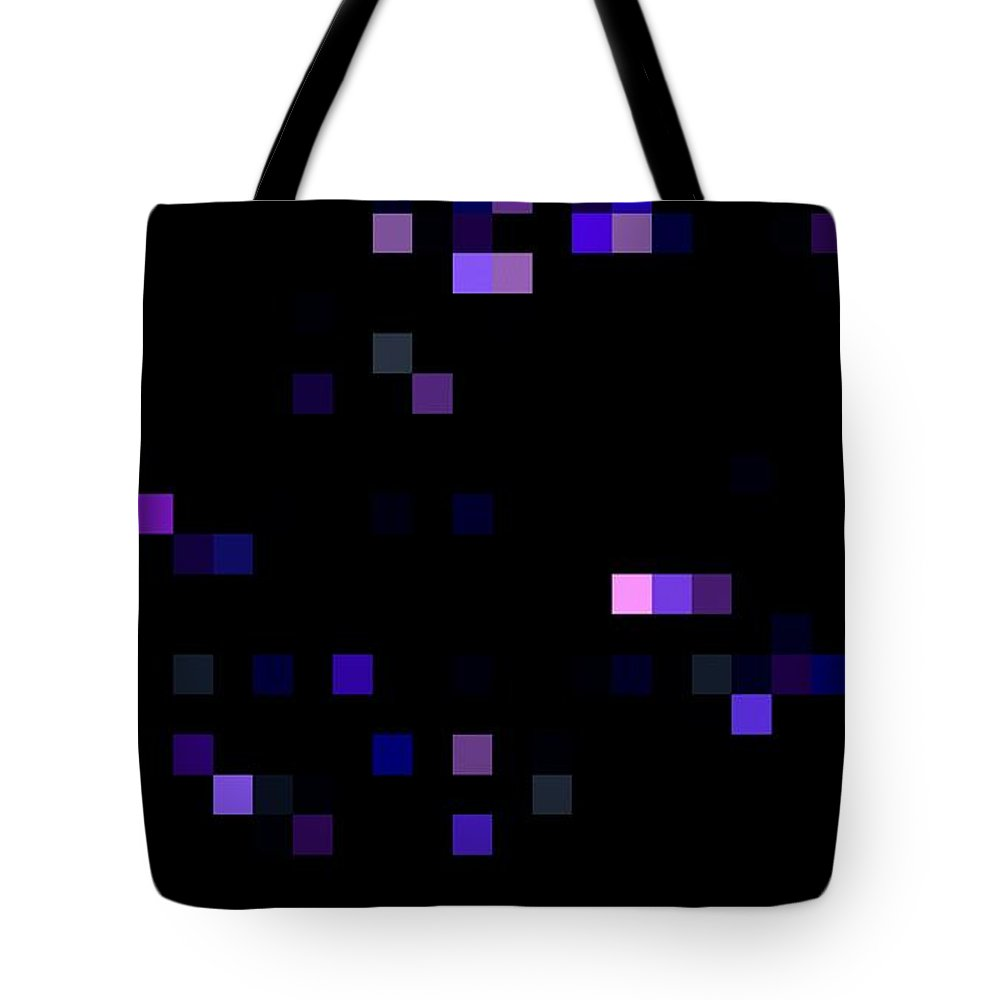 Black Canvas Prints Tote Bag featuring the digital art Digital Space by Pauli Hyvonen
