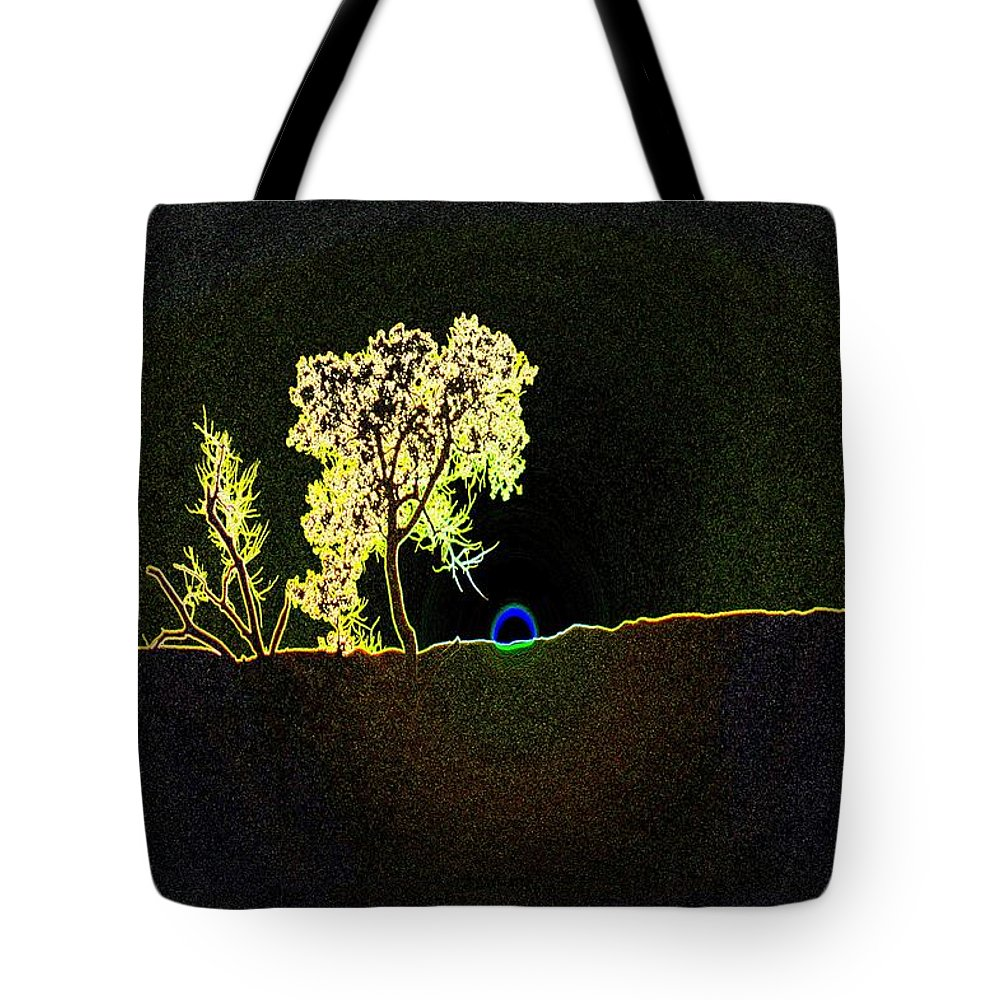 Trees Tote Bag featuring the photograph Digital Sunset by Jeff Swan