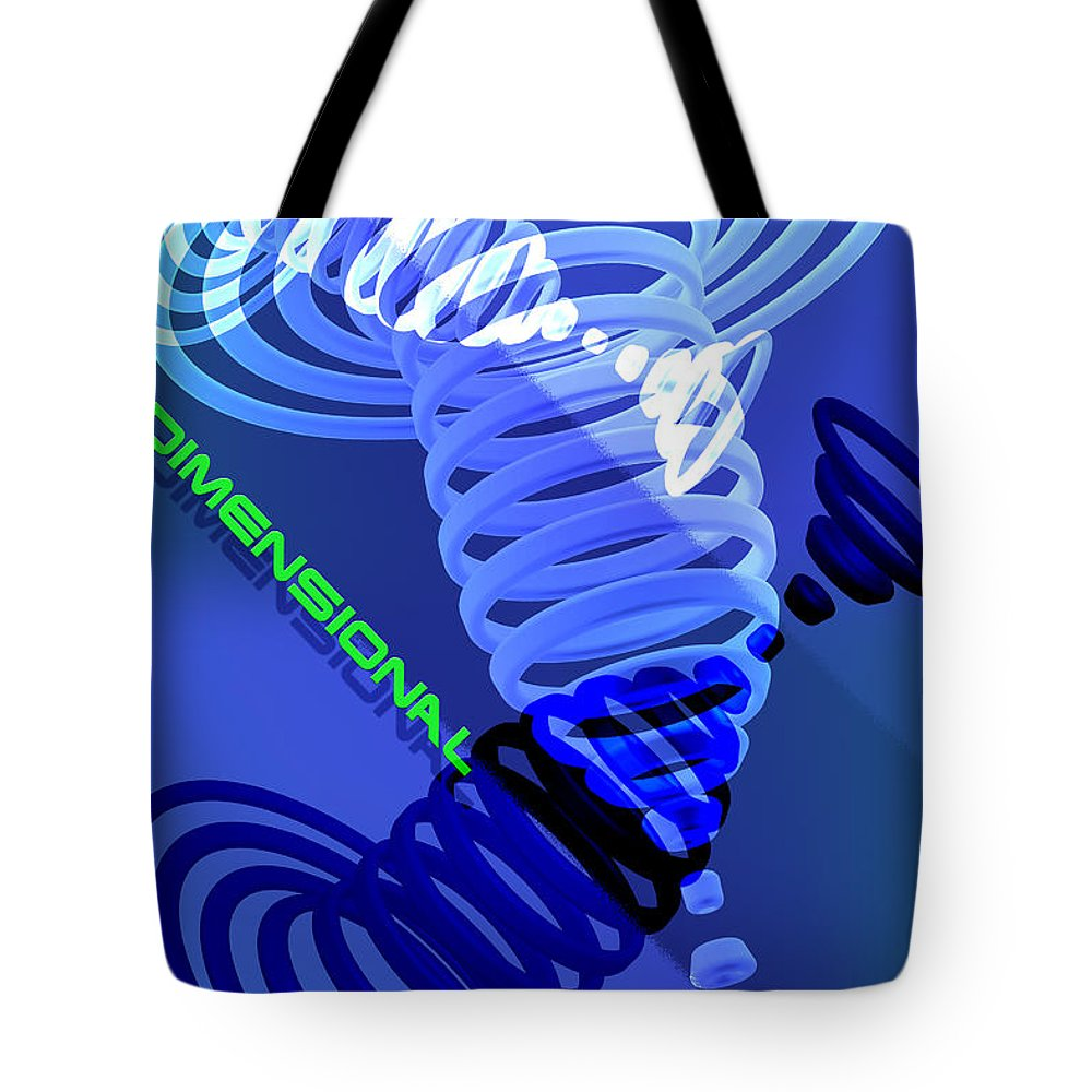 Dimension Tote Bag featuring the digital art Dimensional by Steve Ohlsen
