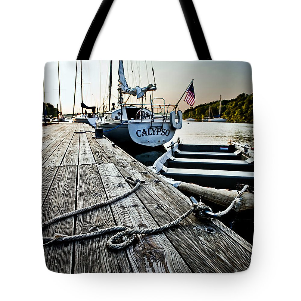 Nautical Tote Bag featuring the photograph Dingy by Sennie Pierson