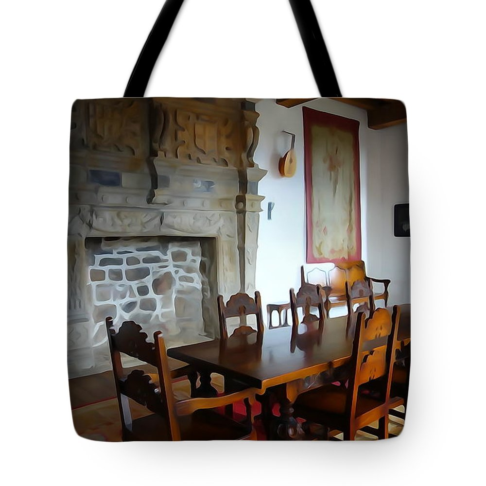 Dining Tote Bag featuring the photograph Dining At Donegal Castle by Charlie Brock