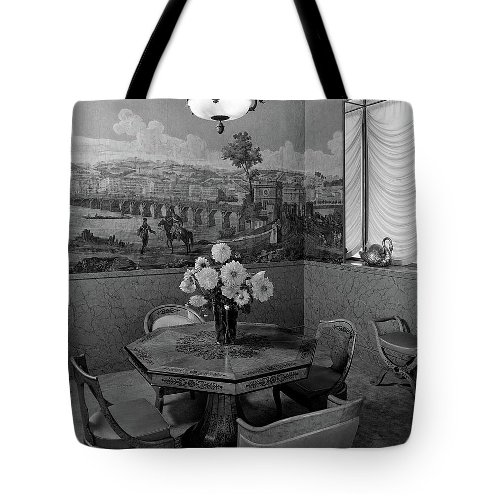 Architecture Tote Bag featuring the photograph Dining Room In Helena Rubinstein's Home by F. S. Lincoln