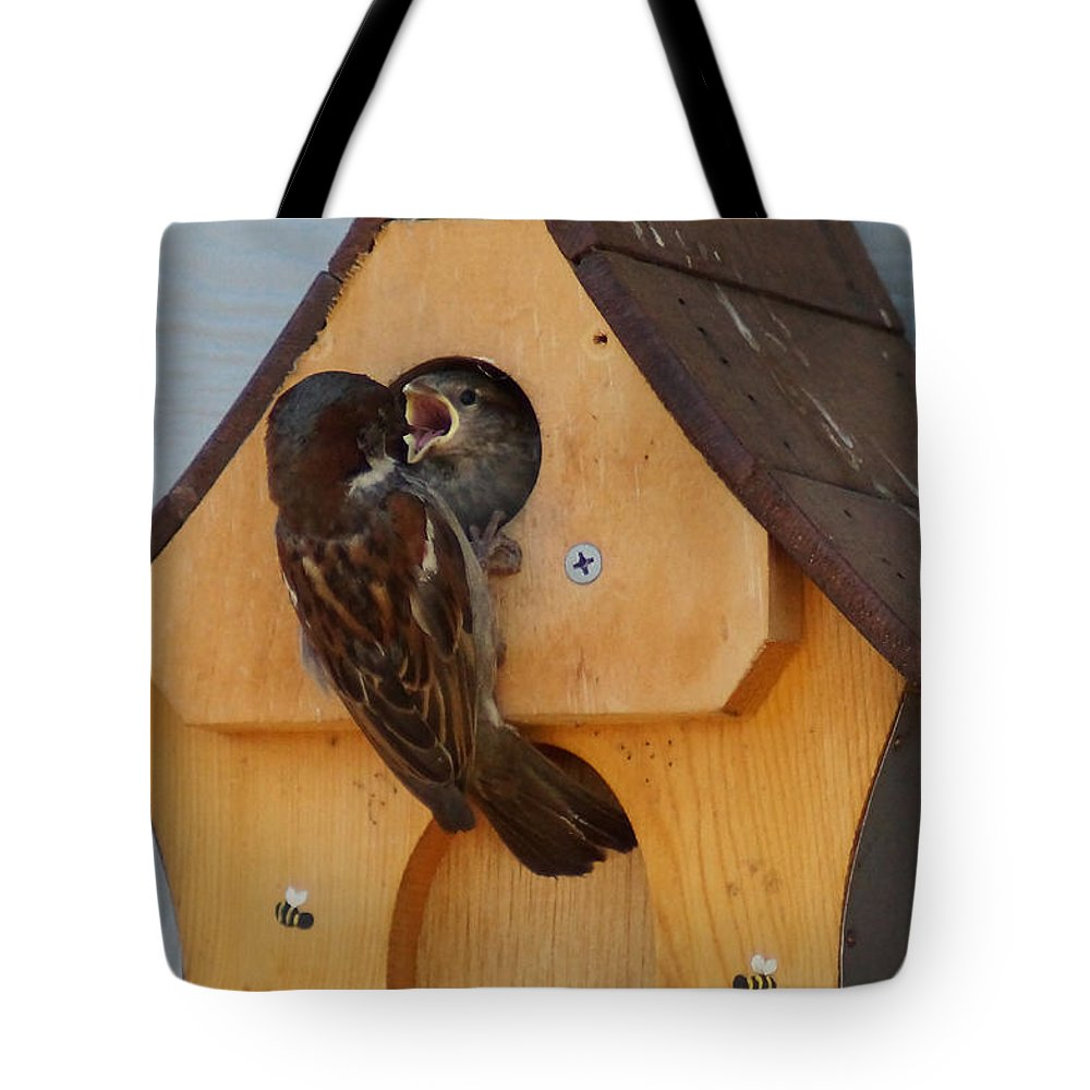Dinner Tote Bag featuring the photograph Dinner Time by Mick Anderson