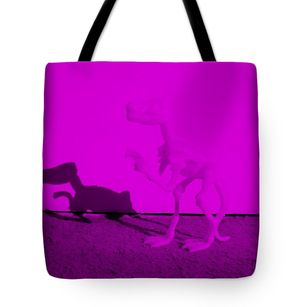 Dinosaur Tote Bag featuring the photograph Dino Purple... Barney by Rob Hans