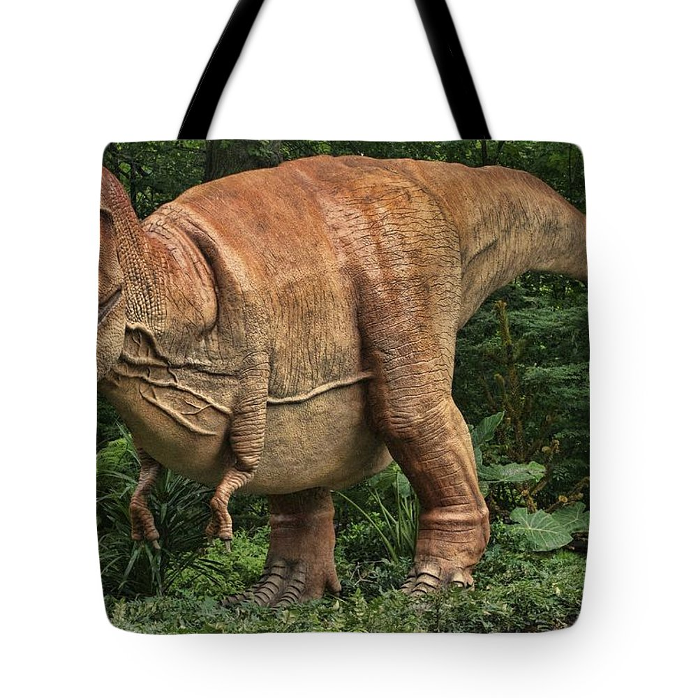 Dinosaur Tote Bag featuring the photograph Dinosaur In The Bronx by Alice Gipson