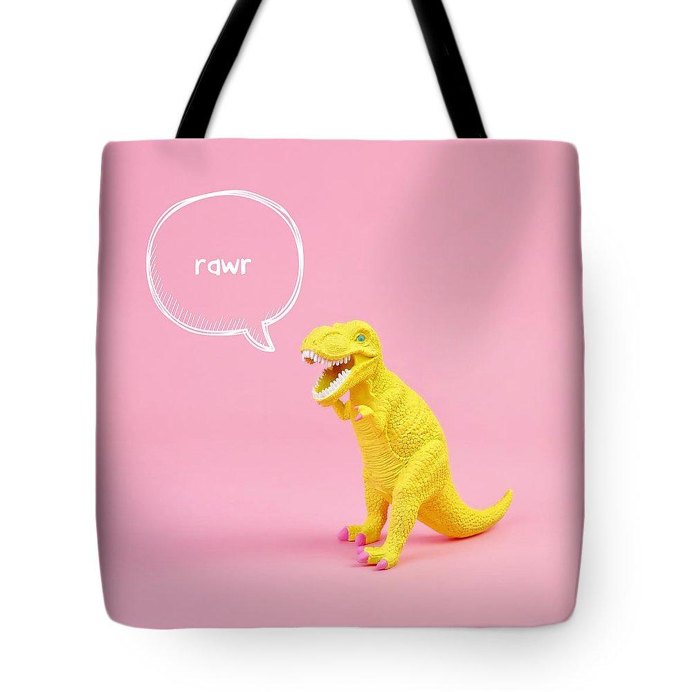 Animal Tote Bag featuring the photograph Dinosaur Rawr by Juj Winn