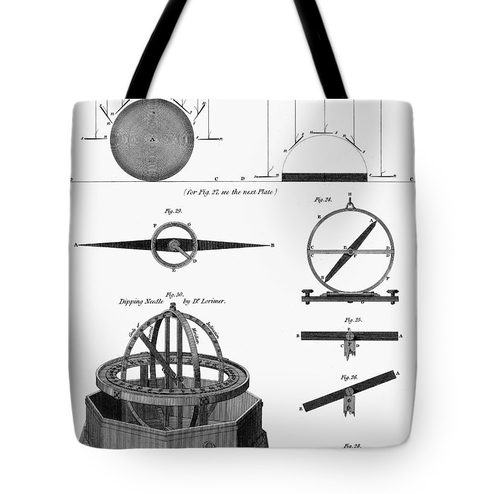 1764 Tote Bag featuring the photograph Dipping Needle Compass by Granger