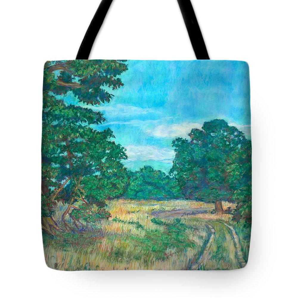 Landscape Tote Bag featuring the painting Dirt Road Near Rock Castle Gorge by Kendall Kessler