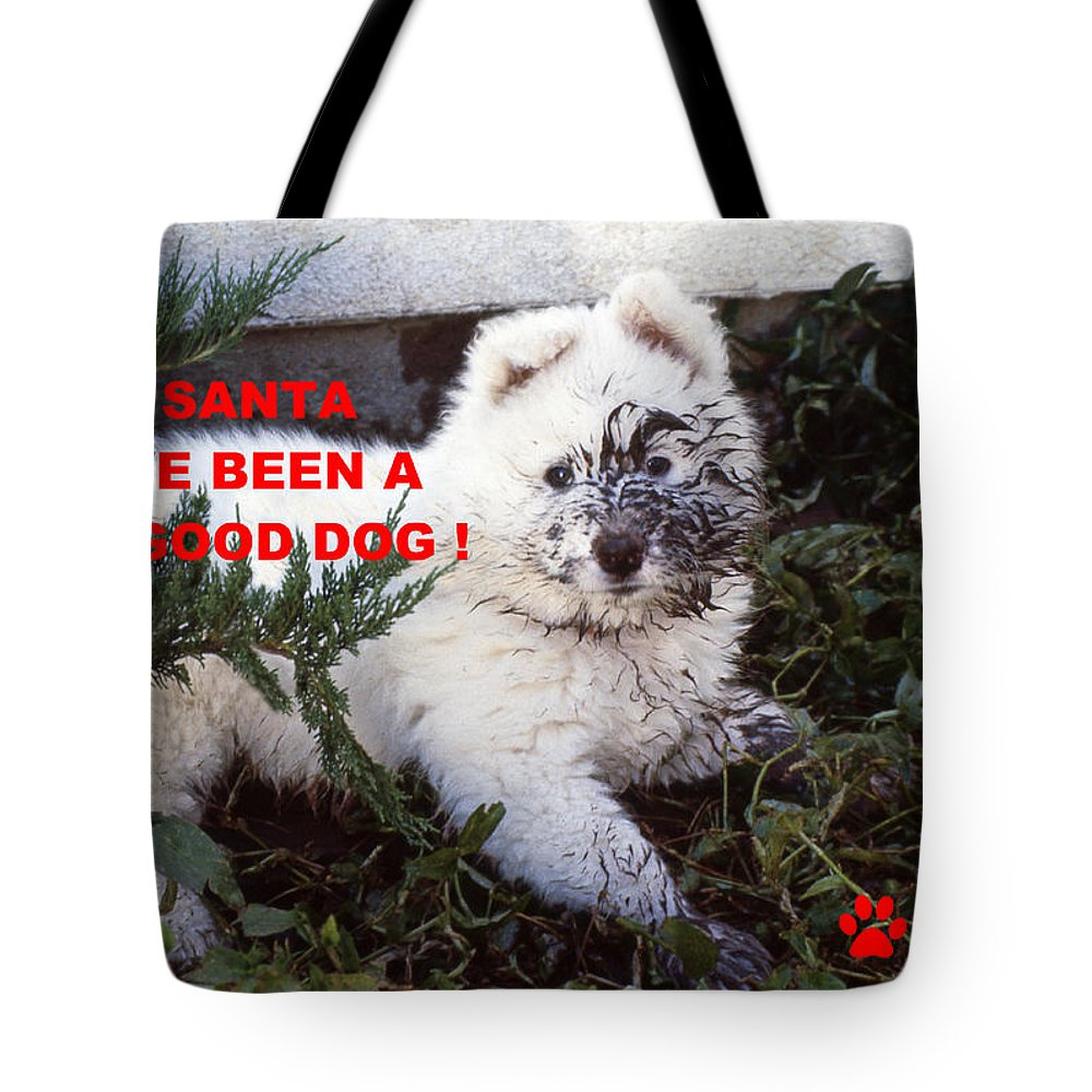 Dirty Dog Christmas Card Tote Bag For Sale By Ginny Barklow