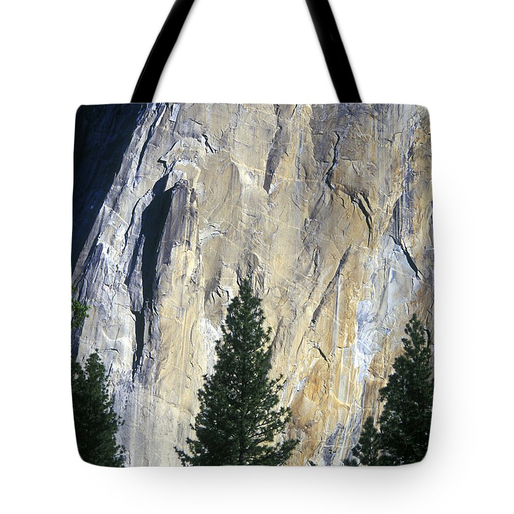 El Capitan Tote Bag featuring the photograph Disappearing Into The Wall by Paul W Faust - Impressions of Light