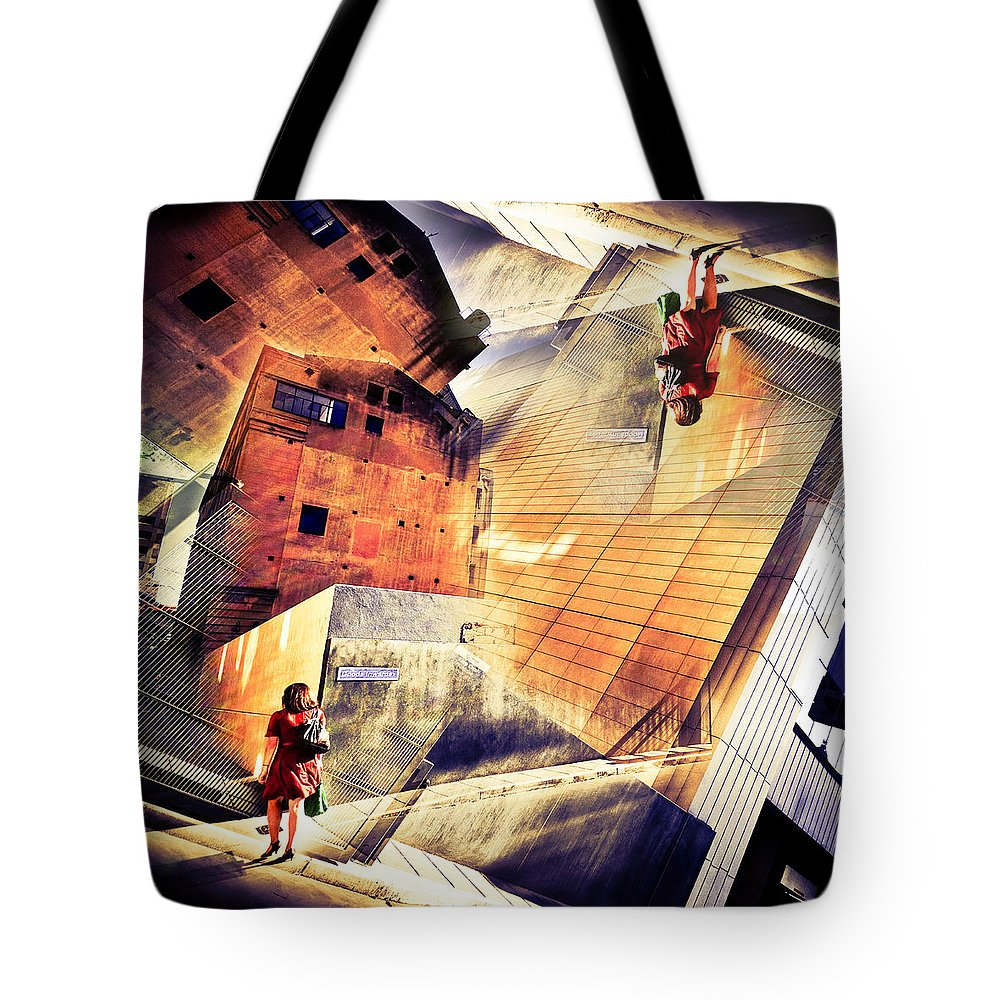 Abstract Tote Bag featuring the photograph Disoriented by Wayne Sherriff