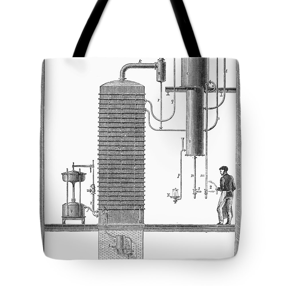 19th Century Tote Bag featuring the photograph Distillation, 19th Century by Granger