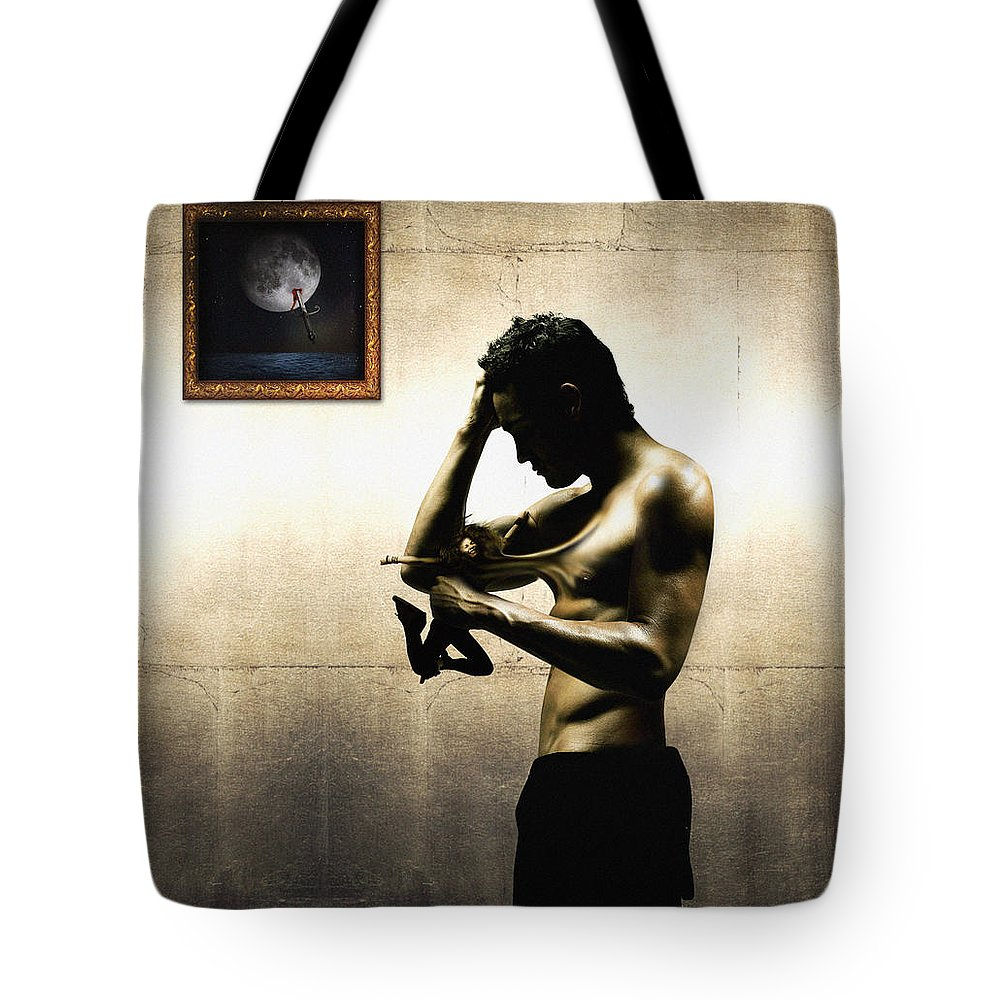 People Tote Bag featuring the digital art Divide Et Pati - Divide And Suffer by Alessandro Della Pietra