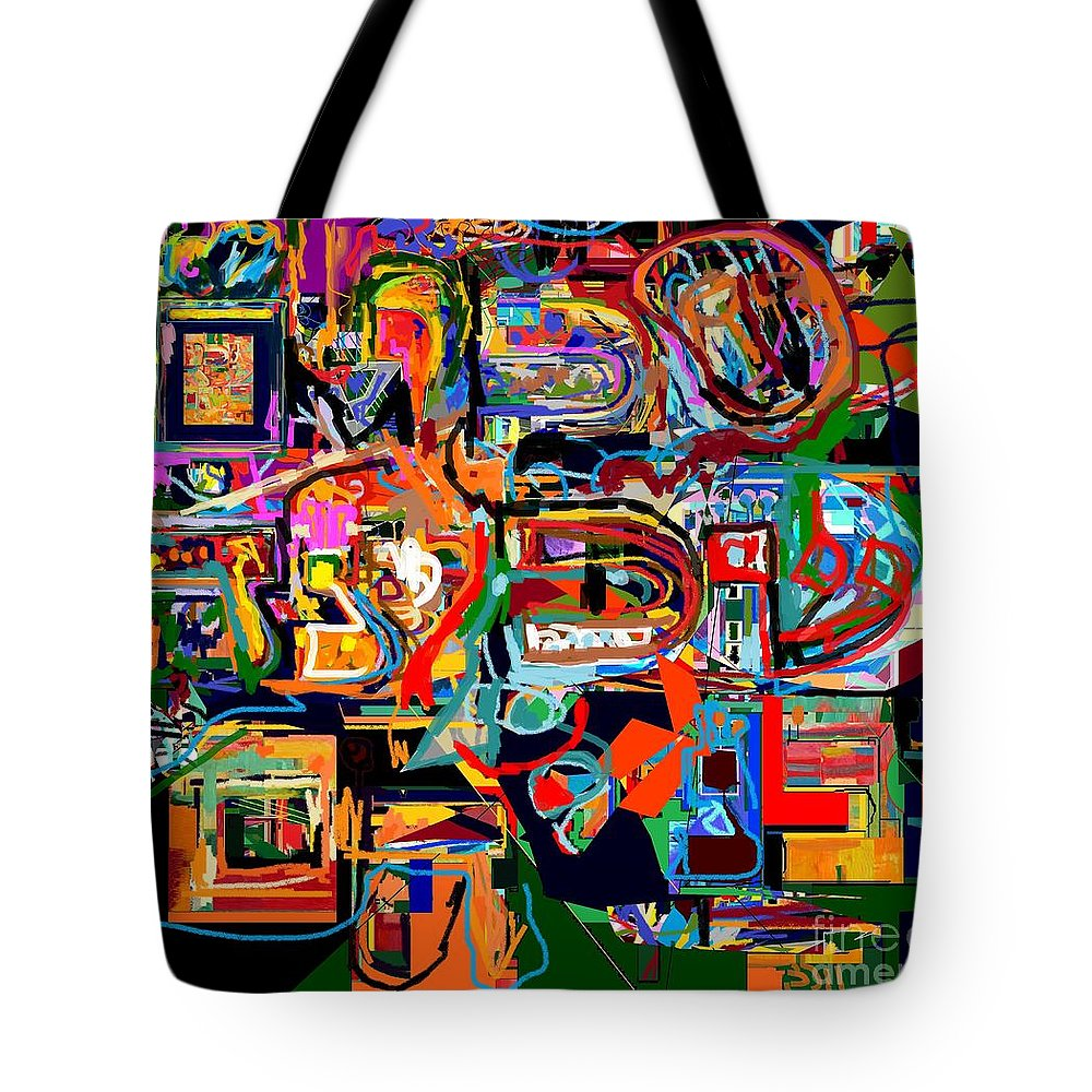 Torah Tote Bag featuring the digital art Divinely Blessed Marital Harmony 29 by David Baruch Wolk