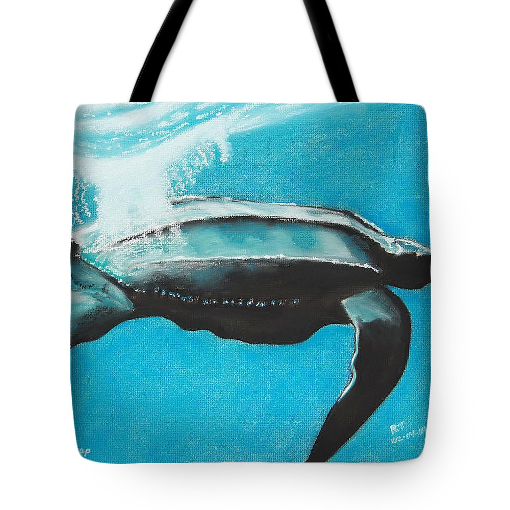 Pastel Tote Bag featuring the painting Diving Deep by Robert Timmons