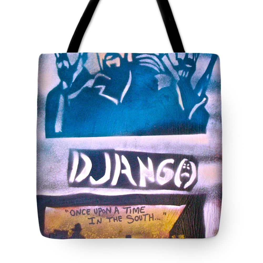 Hip Hop Tote Bag featuring the painting Django Once Upon A Time by Tony B Conscious