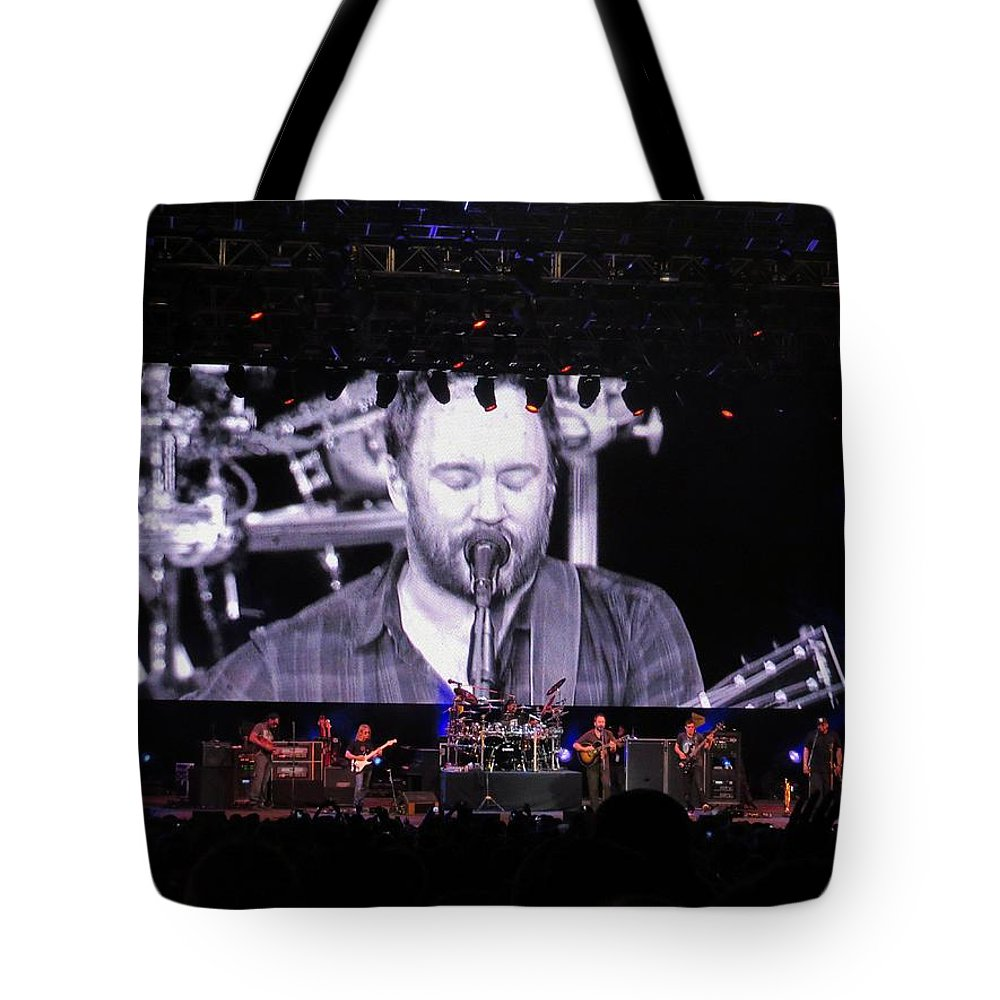 Dave Tote Bag featuring the photograph Dmb Live by Aaron Martens