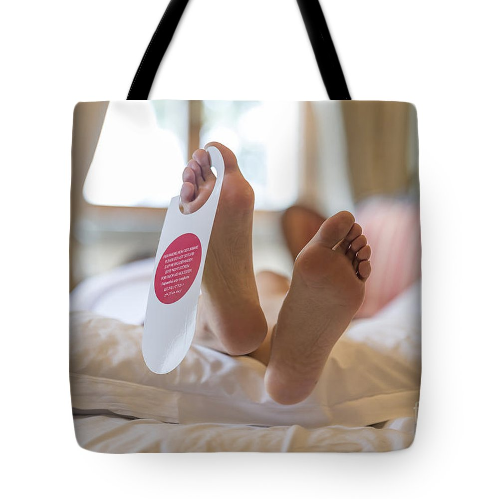 Signboard Tote Bag featuring the photograph Do Not Disturb by Mats Silvan