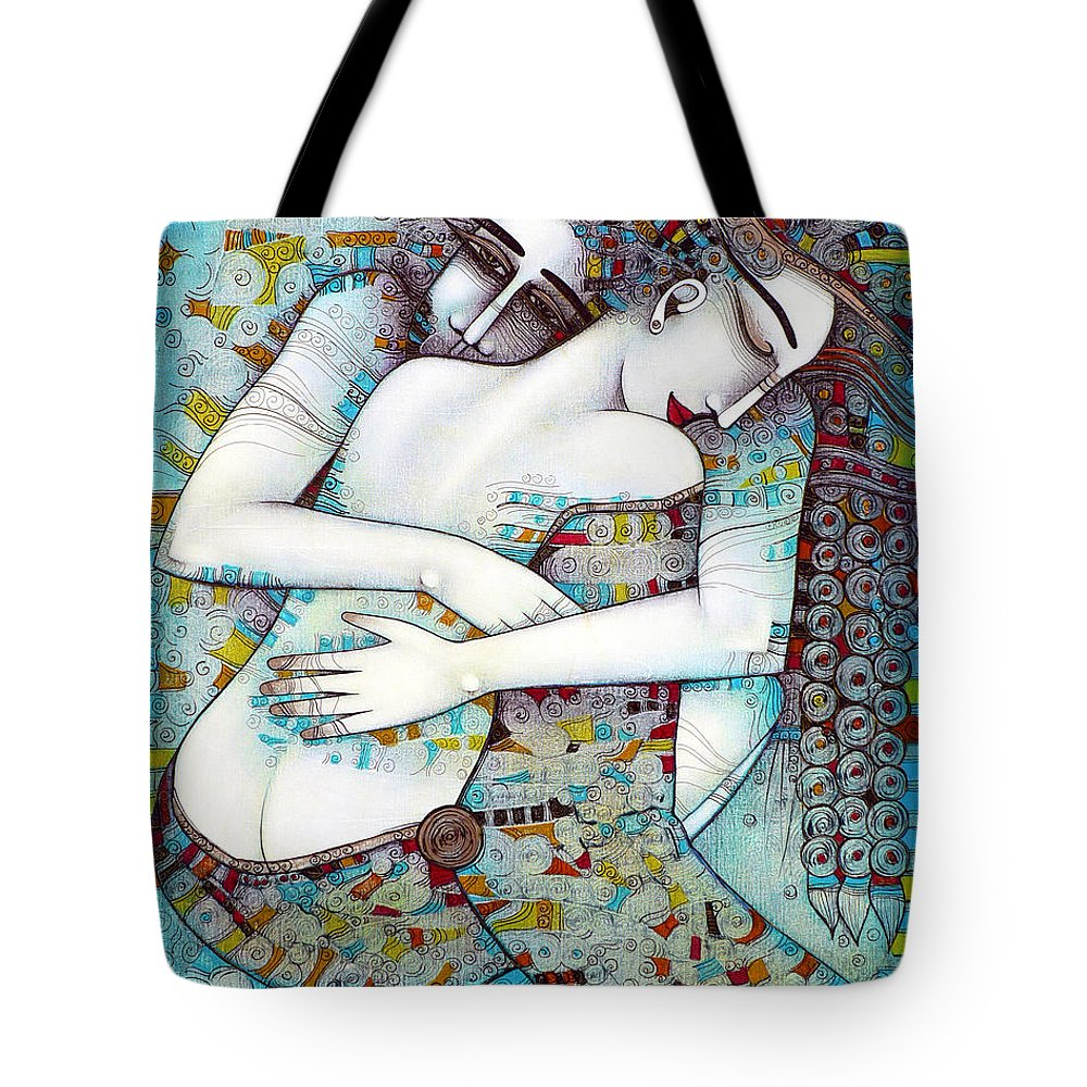 Love Tote Bag featuring the painting Do Not Leave Me by Albena Vatcheva