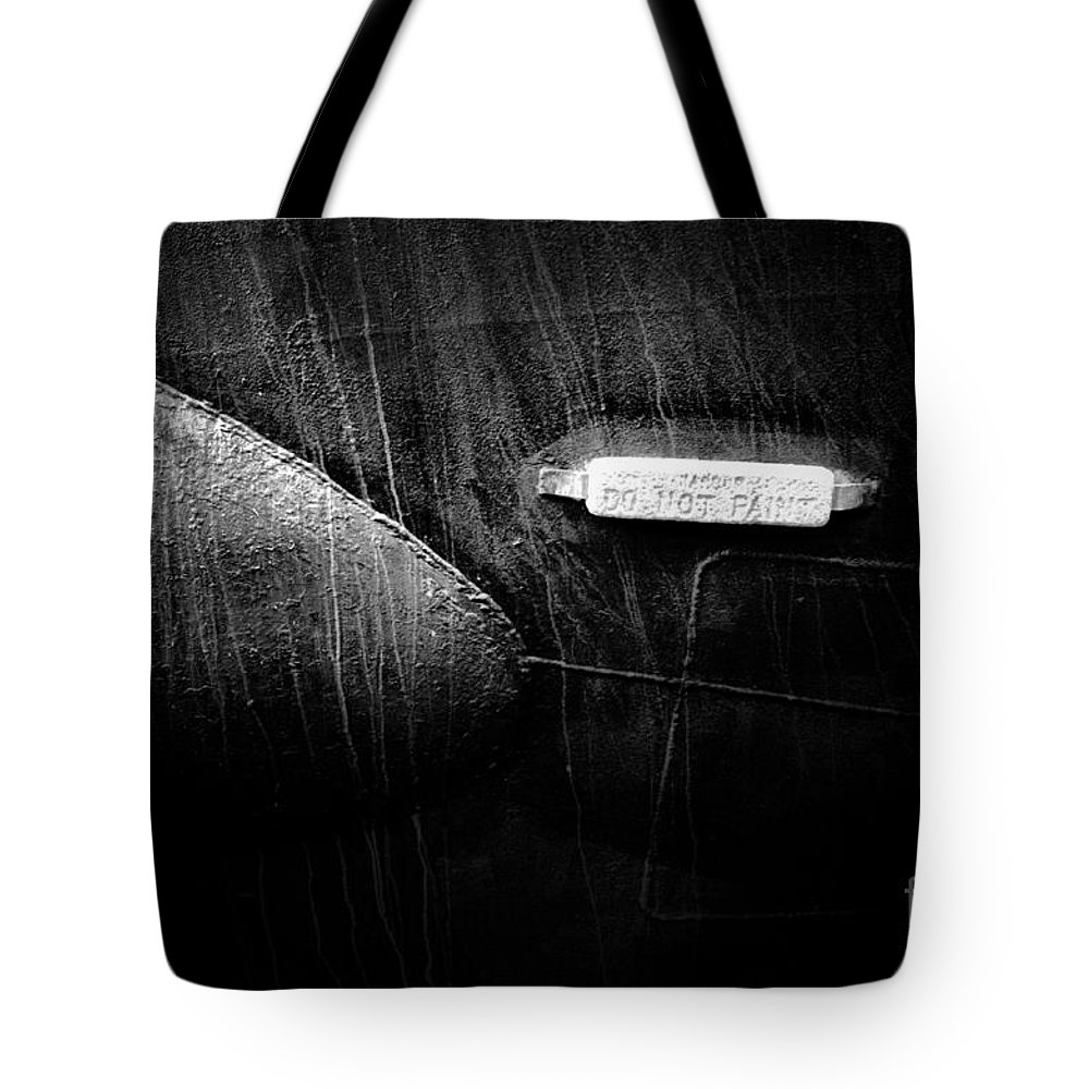 Newel Hunter Tote Bag featuring the photograph Do Not Paint by Newel Hunter