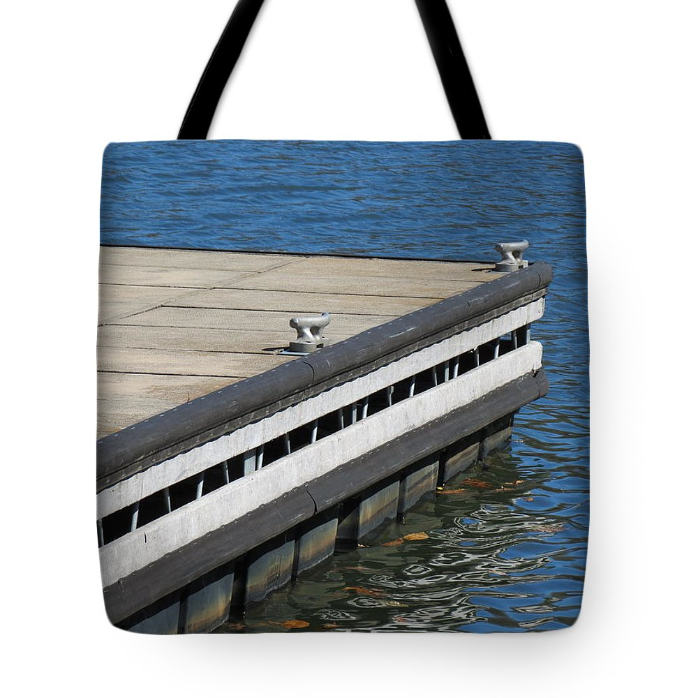 Boat Dock Tote Bag featuring the photograph Dock On The Lake by Shelissa Dawn Savage