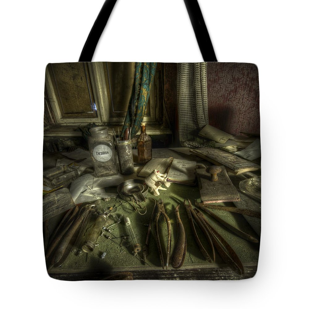 Doctor Tote Bag featuring the digital art Doctor Death by Nathan Wright