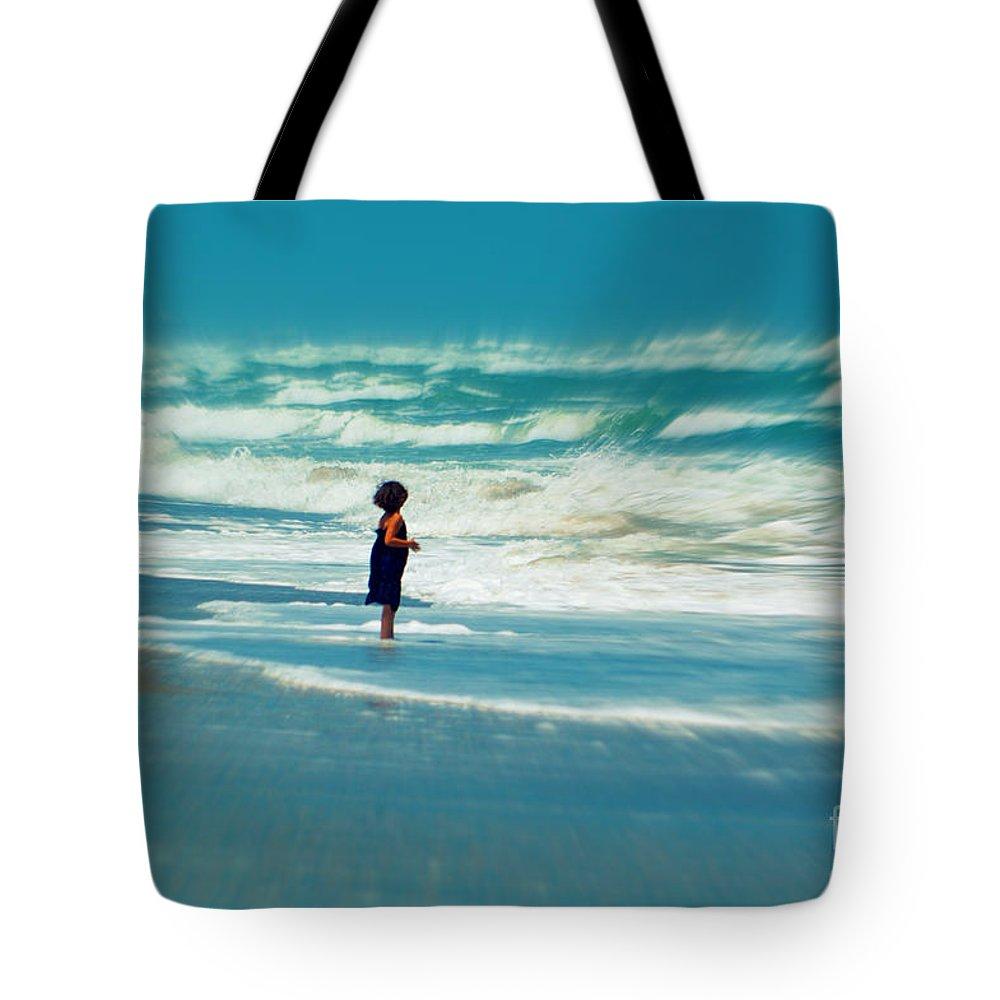 Does The Ocean Ever Stops Tote Bag featuring the photograph Does The Ocean Ever Stops by Susanne Van Hulst