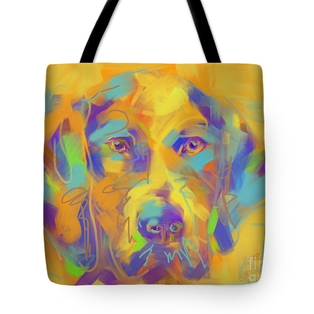 Dog Tote Bag featuring the painting Dog Noor by Go Van Kampen