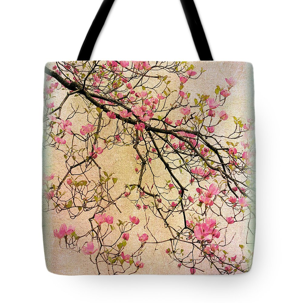 Flwoers Tote Bag featuring the photograph Dogwood Canvas 3 by Jessica Jenney
