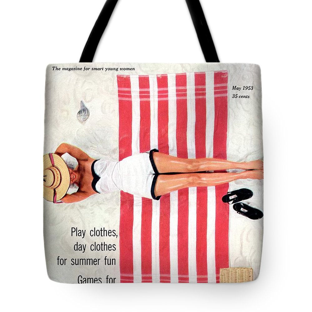 Fashion Tote Bag featuring the photograph Dolores Hawkins On A Beach by Somoroff