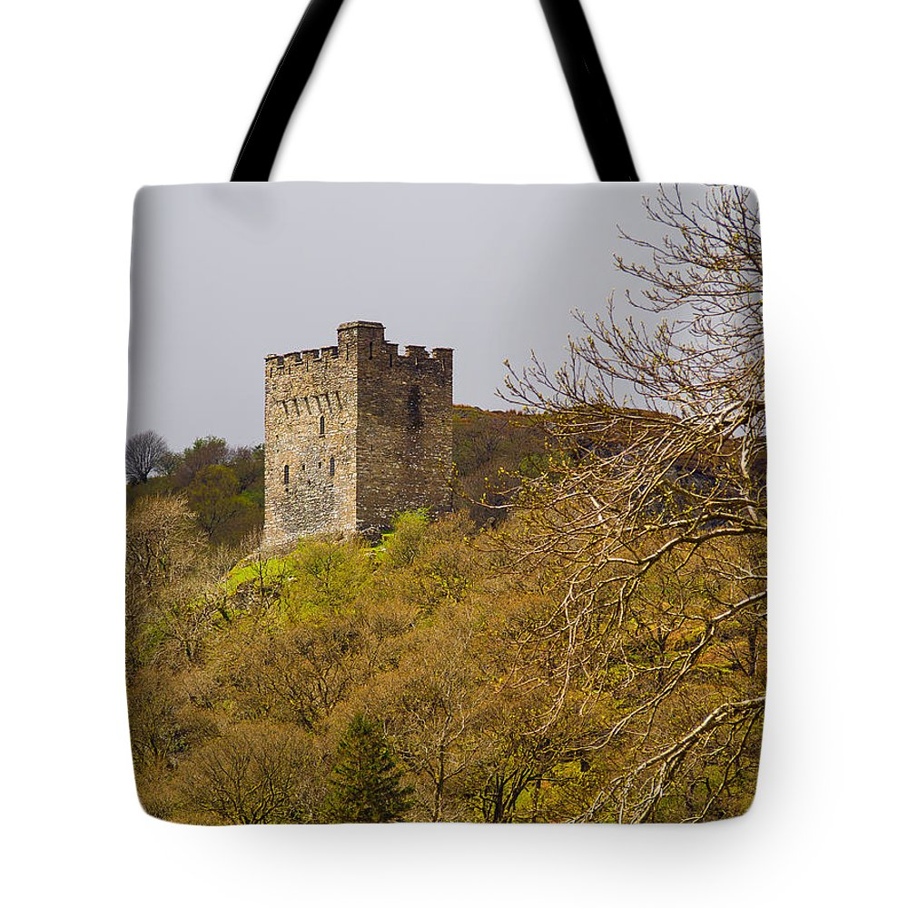 Attack Tote Bag featuring the photograph Dolwyddelan Castle by Mark Llewellyn