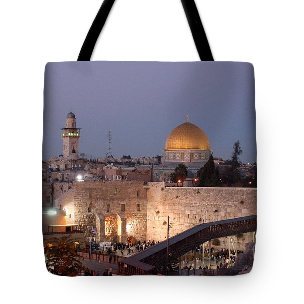 Al Aqsa Mosque Tote Bag featuring the painting Dome by Doc Braham