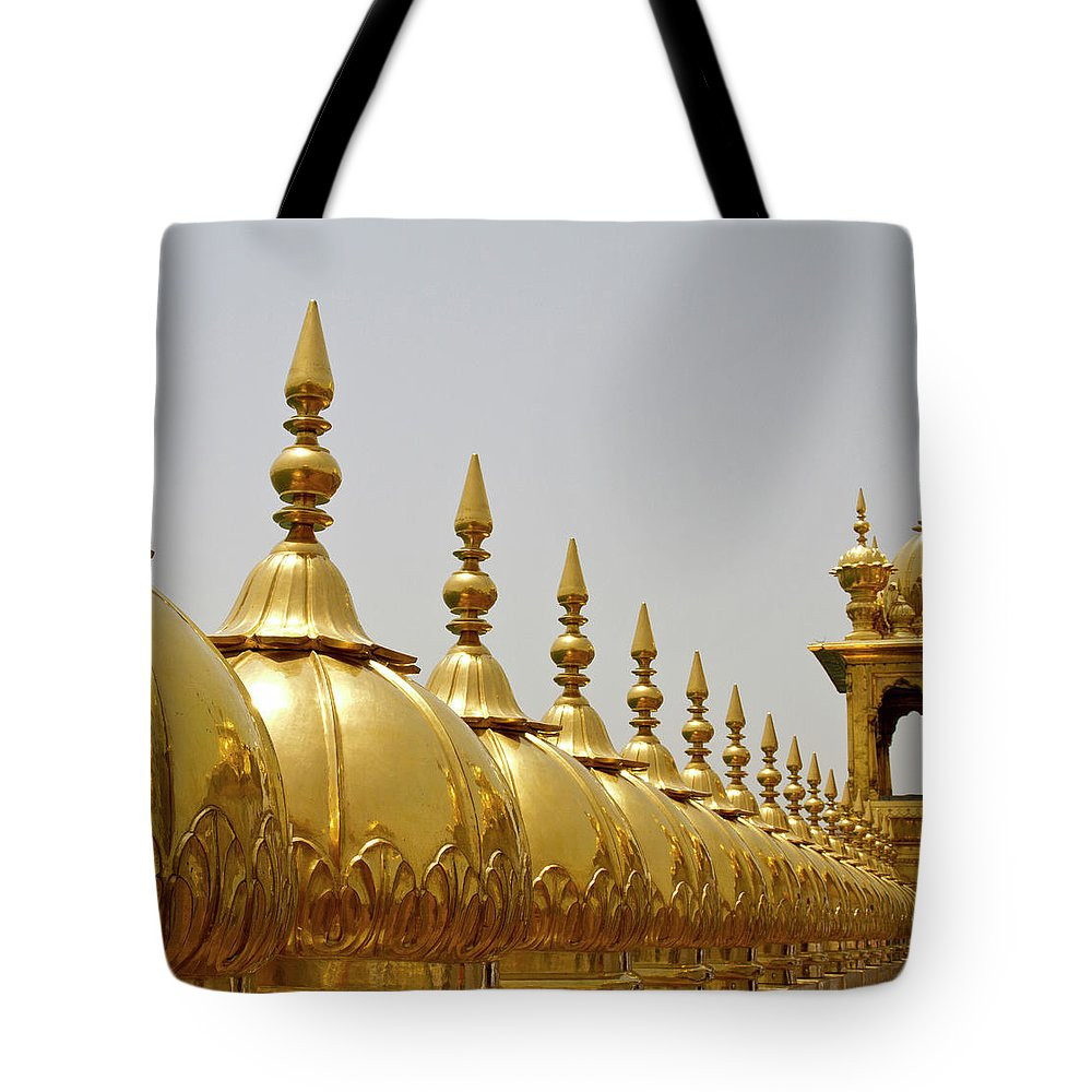 Tranquility Tote Bag featuring the photograph Domes At Golden Temple by *swatikulkarni*
