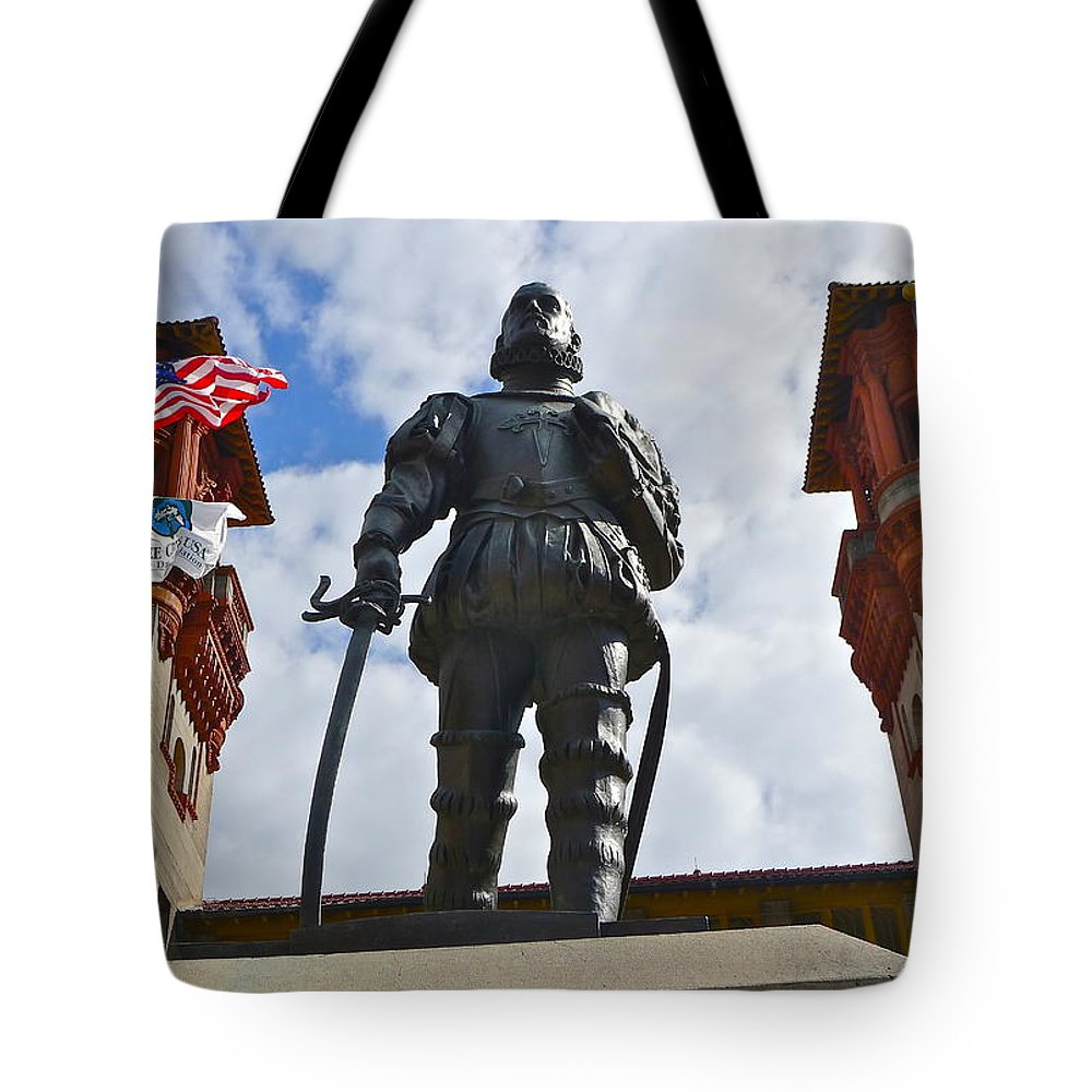 Don Pedro Menendez De Aviles Tote Bag featuring the photograph Don Pedro Menendez De Aviles by Denise Mazzocco