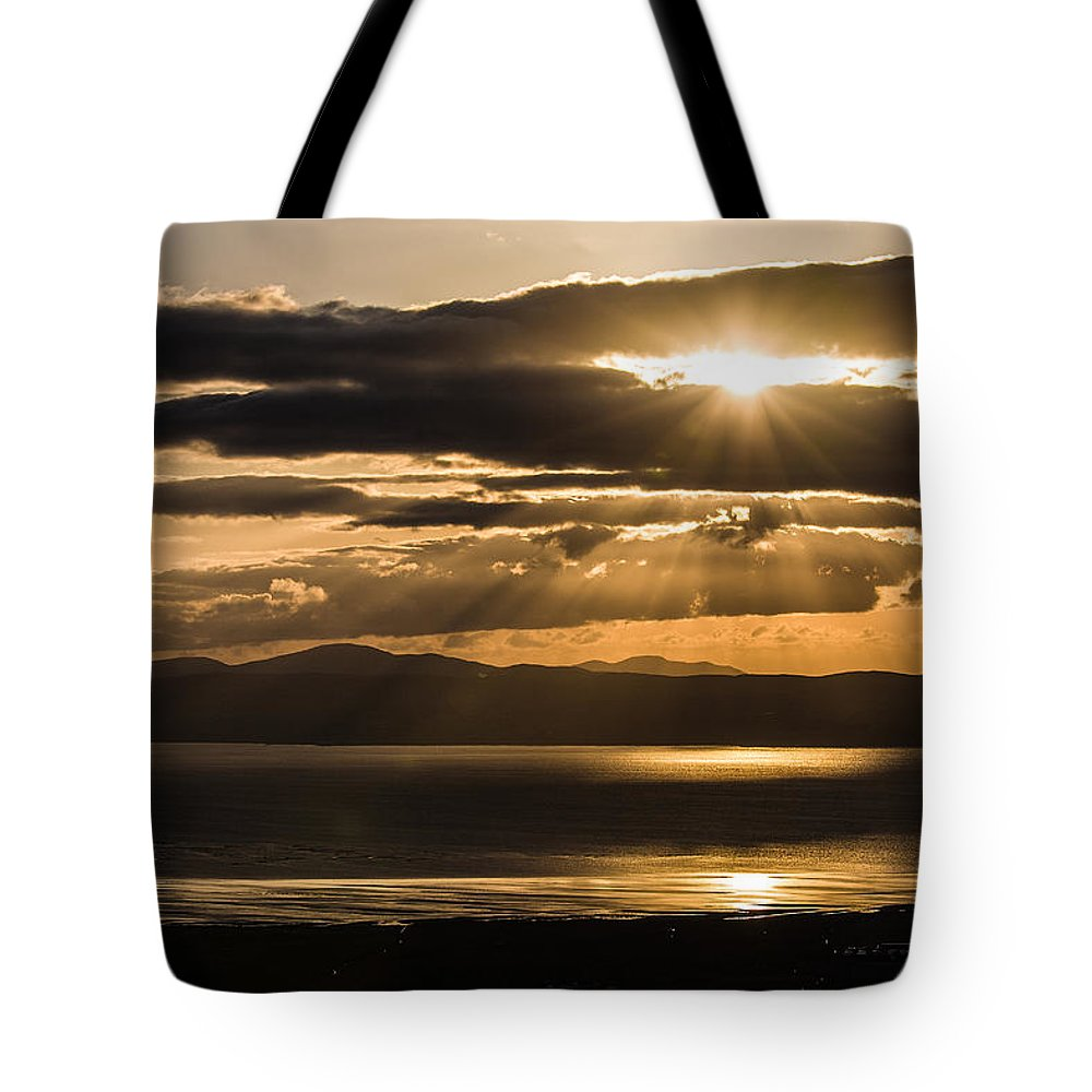 Donegal Tote Bag featuring the photograph Donegal Sunset by Nigel R Bell