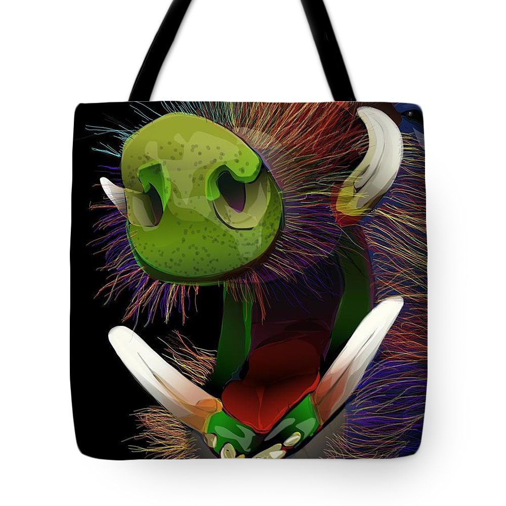 Nature Tote Bag featuring the digital art Dont Be A Boar by Brian Jensen Felde