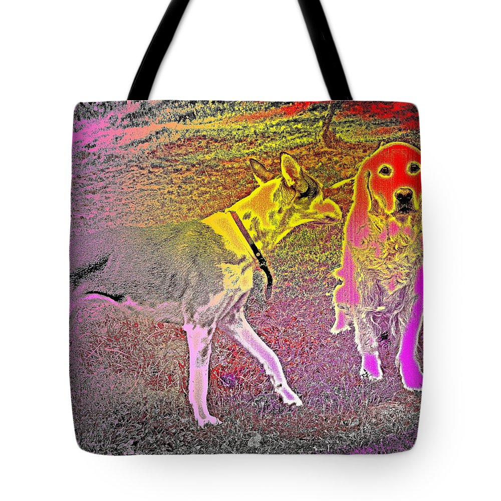 Dogs Tote Bag featuring the photograph Dont Be Shy, My Friend, Be Bold by Hilde Widerberg