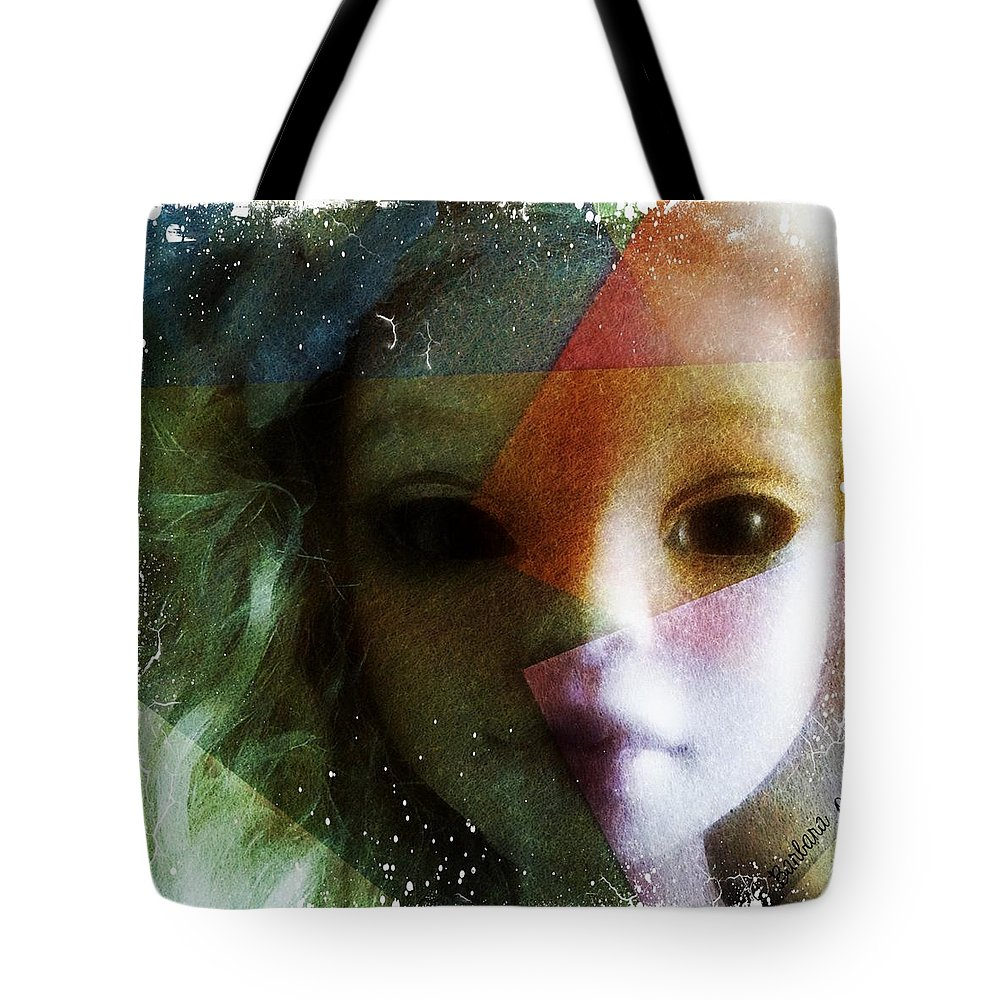 Portrait Tote Bag featuring the digital art Don't Hold Your Breath by Barbara Orenya
