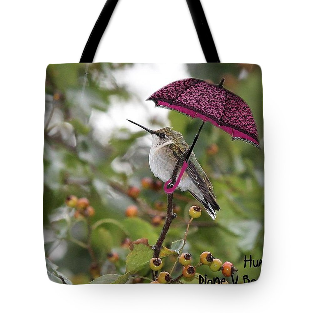 Art Tote Bag featuring the digital art Don't Let It Rain On My Tree by Diane V Bouse